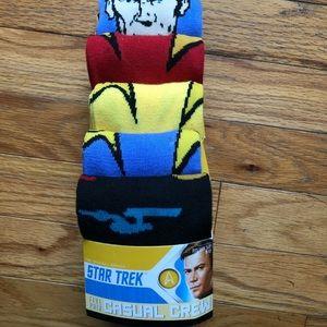 Brand New Star Trek Socks 5 Pair!